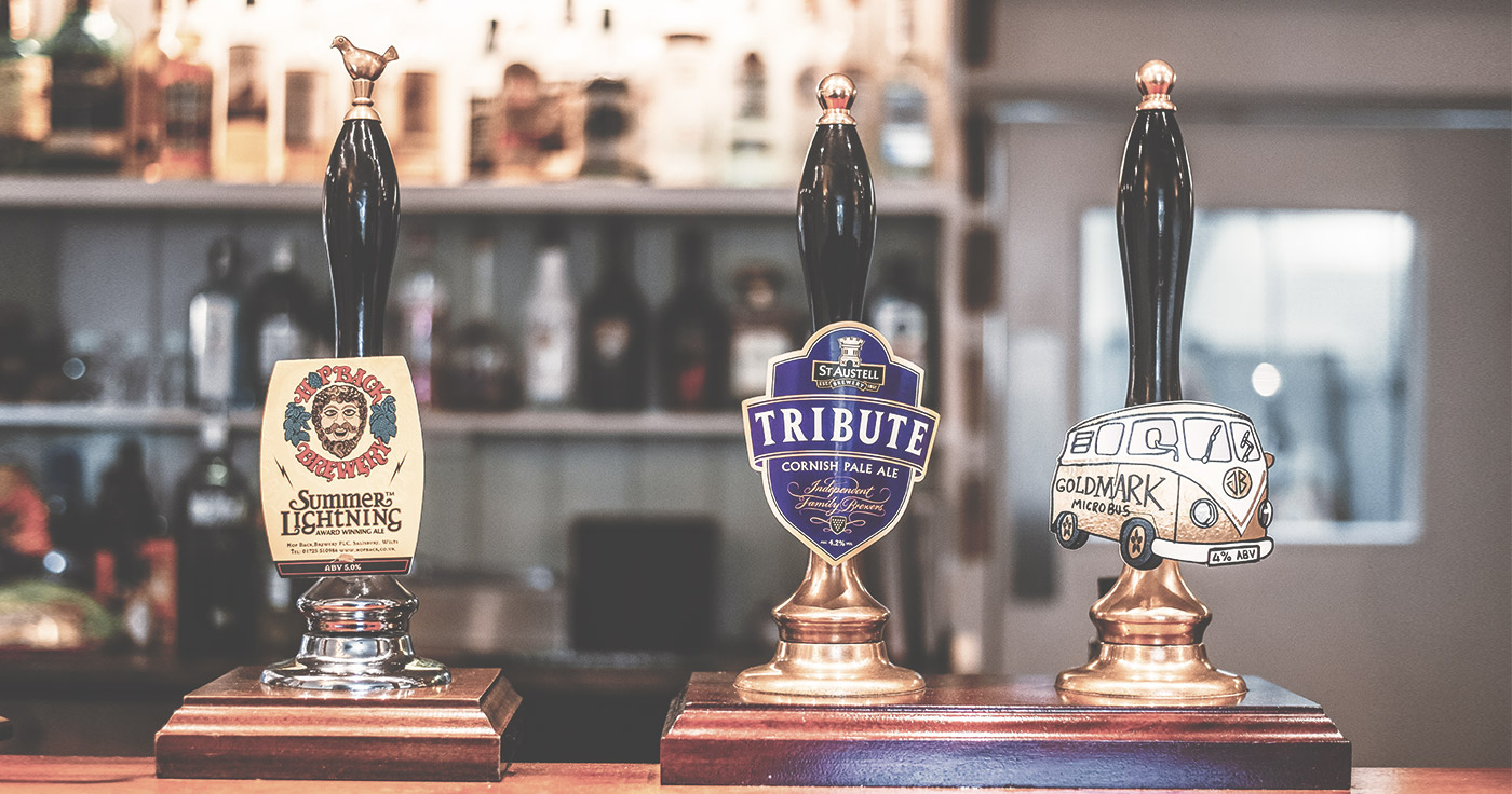 Local and Cornish Real Ales